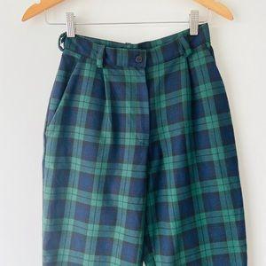 LTT Classic Plaid Womens Trouser Pants Siz…